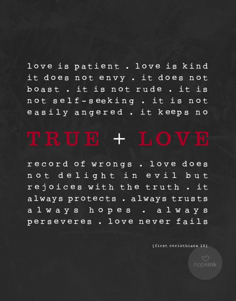 True Love Scripture Art