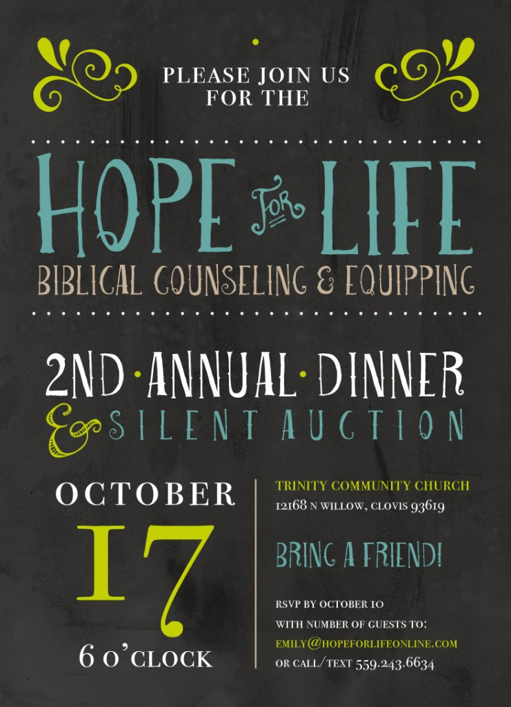 Hope For Life Dinner Invitation 2014