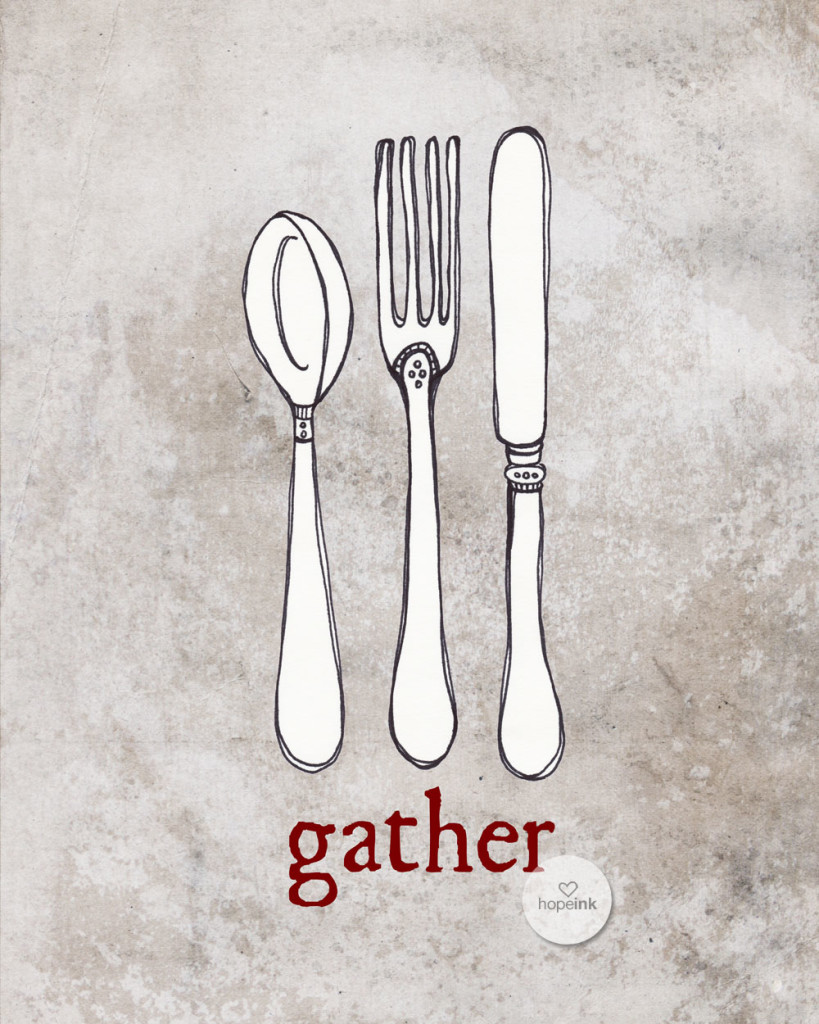 Gather Silverware Art