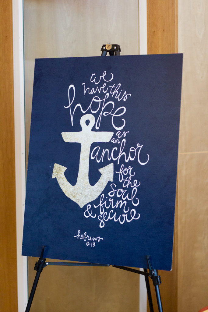 Hope Is An Anchor Hand Lettered Scripture Art