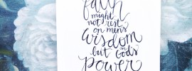 hand lettered scripture art