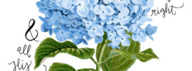 cripture Art Hydrangeas Hope Ink