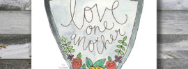 Love One Another Marriage Counseling Hand Lettered Scripture Art